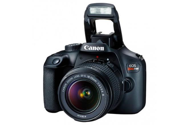 Cámara Fotográfica Profesional CANON EOS T100 EF-S 18-55 IS III Kit Negro-3