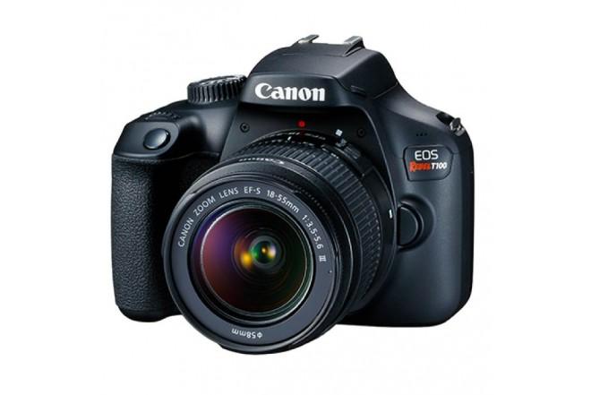 Cámara Fotográfica Profesional CANON EOS T100 EF-S 18-55 IS III Kit Negro-2