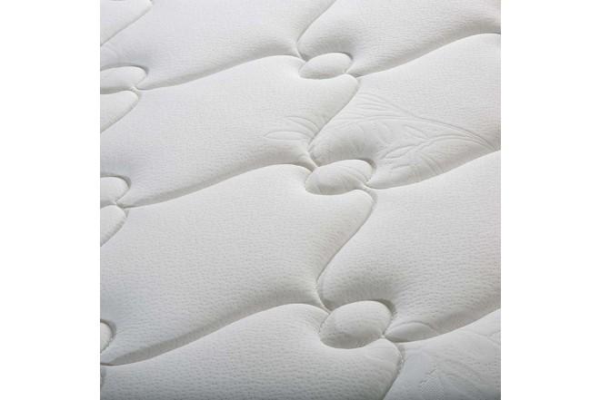 KOMBO ELDORADO: Colchón Resortado Doble Tahoma 140 x 190 cm + Base Cama y Cabecero Duken + Almohadas Fiyi + Protector