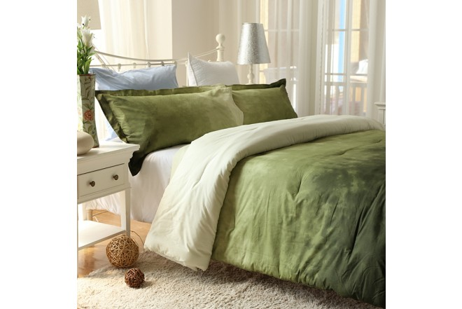 Comforter K-LINE King Tie Die Verde Algodón 100%