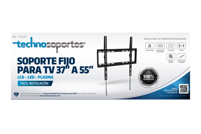 "Base Fija TECHNOSOPORTES, LCD/LED/Plasma 37""a 55"" (Accesorios)"