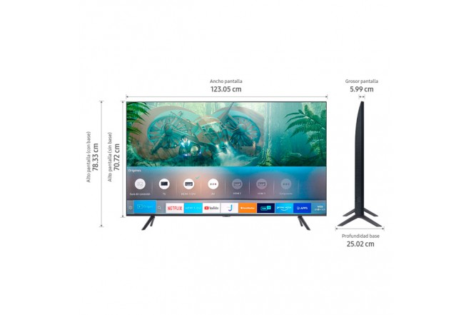 "TV SAMSUNG 55"" Pulgadas 139 Cm 55TU8000 LED 4K-UHD Plano Smart TV 6"