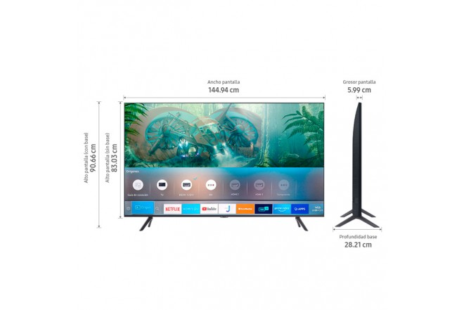 "TV SAMSUNG 65"" Pulgadas 165 Cm 65TU8000 LED 4K-UHD Plano Smart TV 6"