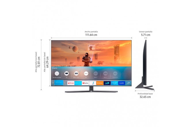 "TV SAMSUNG 50"" Pulgadas 127 Cm 50TU8500 LED 4K-UHD Plano Smart TV 7"