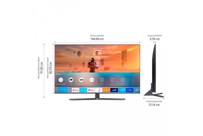 "TV SAMSUNG 65"" Pulgadas 166 Cm 65TU8500 LED 4K-UHD Plano Smart TV Crystal 7"