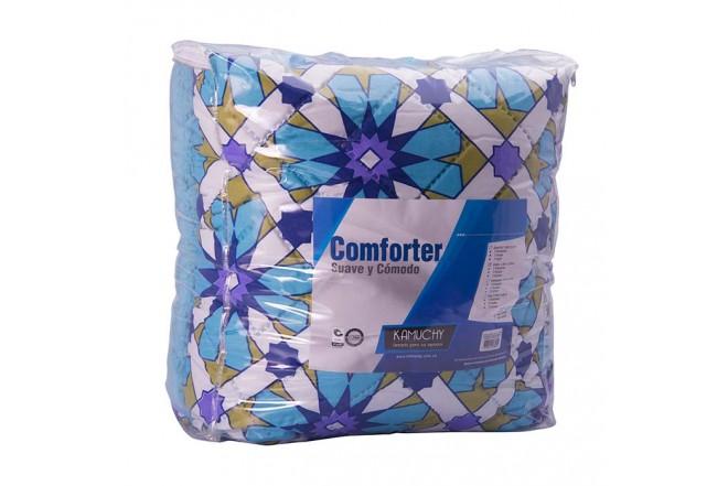 Comforter Estampado KAMUCHY Extradoble Ovejero Turquesa