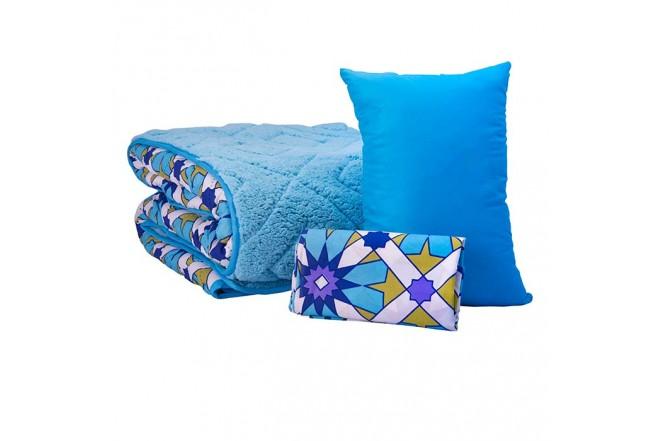 Comforter Estampado KAMUCHY Sencillo Ovejero Turquesa