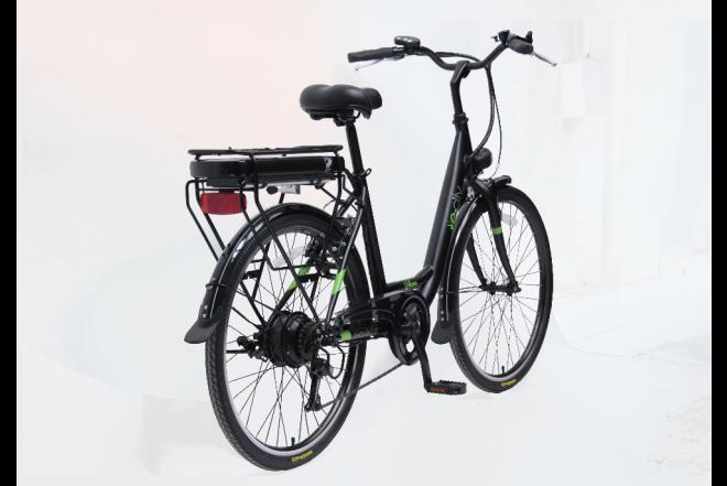 Bicicleta E-city Urbana 250W blanca-f