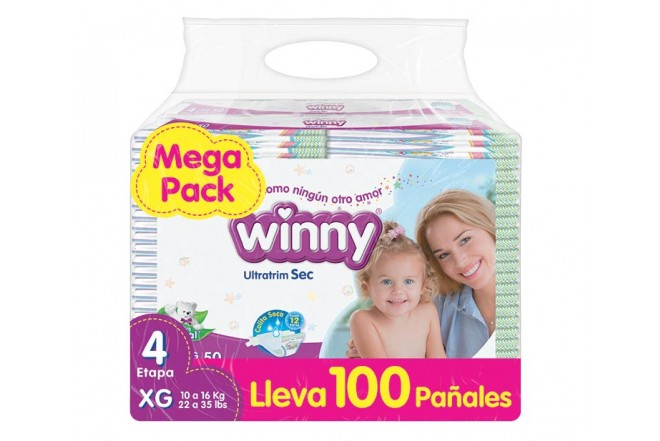 Pañal WINNY Sec Etapa 4 Caja 100 PRECIO ESPECIAL