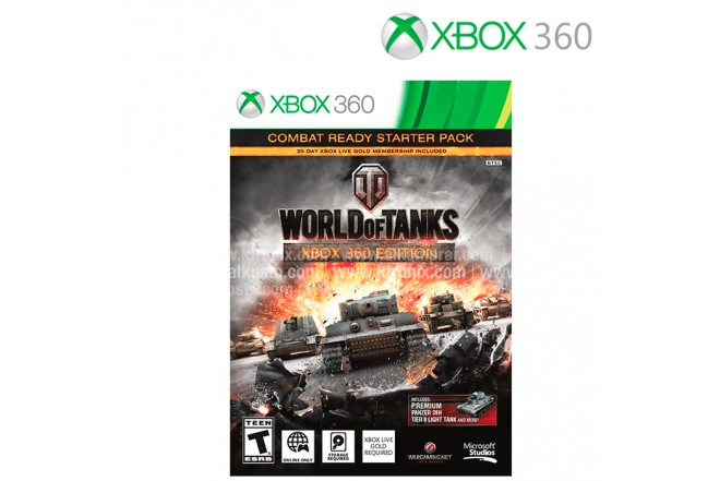 Videojuego XBOX 360 World of Tanks