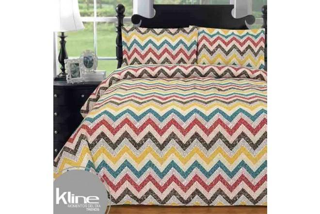 Edredón K-LINE Sencillo Zig-Zag Multicolor 144 Hilos Algodón 100%