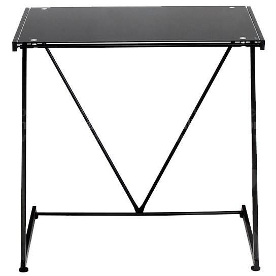Mesa de escritorio en vidrio negra alkosto tienda online for Escritorio de vidrio