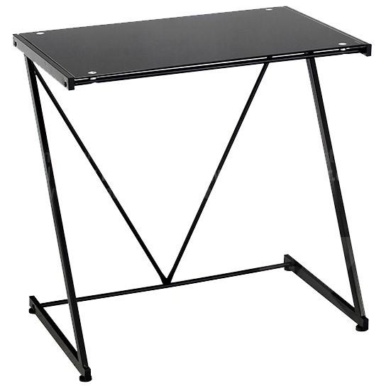 Mesa de escritorio en vidrio negra alkosto tienda online - Mesa escritorio negra ...