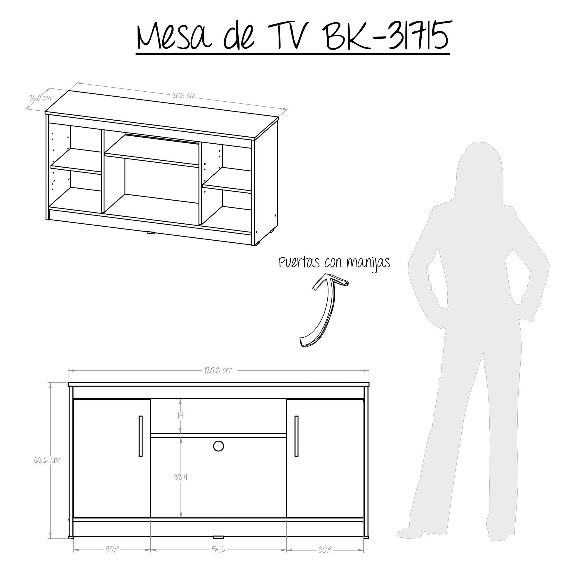 Mesa Tv Maderkit Wengue Alkosto Tienda Online # Muebles Silvia Bucaramanga