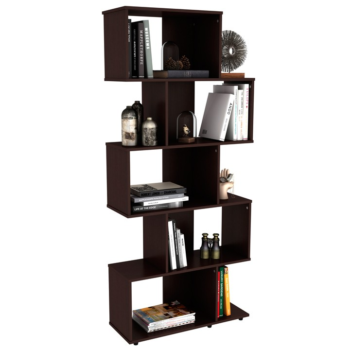 Biblioteca practimac wengue firenze v2 pm3401627 alkosto for Bibliotecas muebles modernos