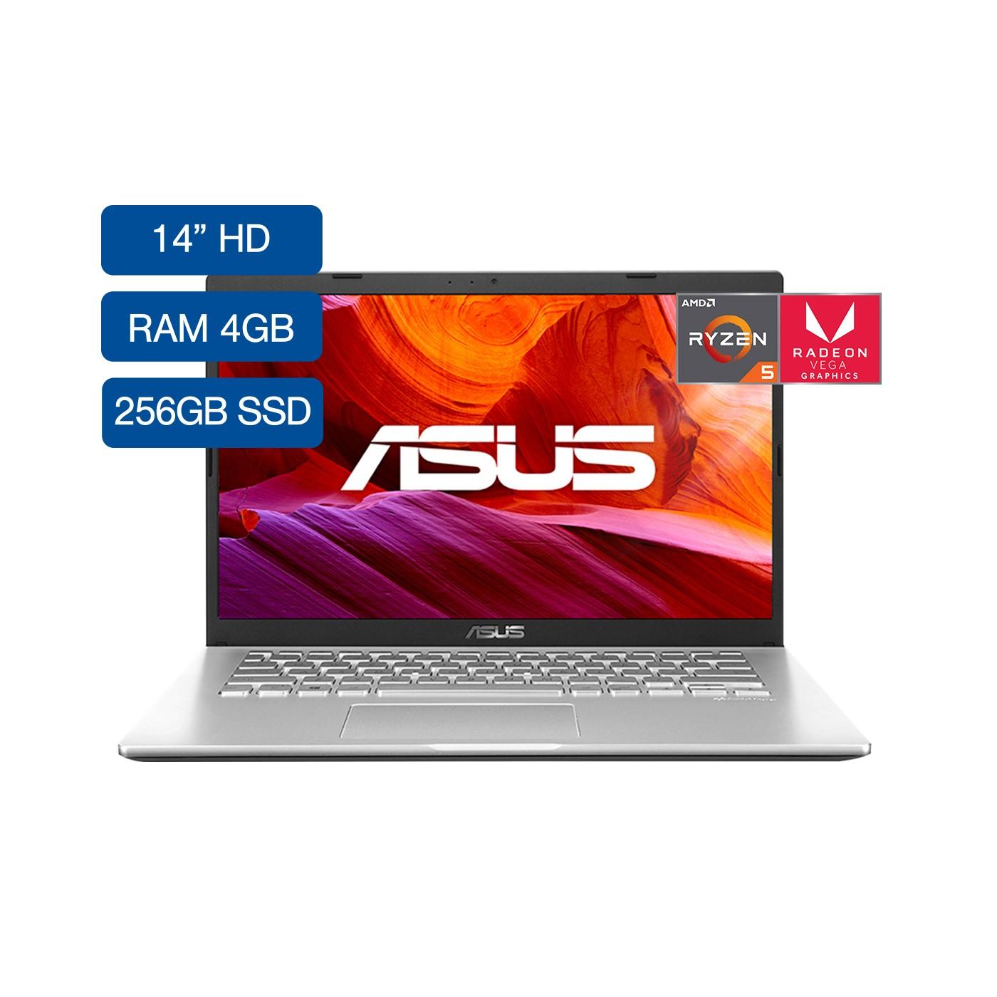 """Portátil ASUS M409DA-EB804T AMD Ryzen 5 14"""" 4GB RAM  Disco Estado Sólido 256 GB Plateado"""