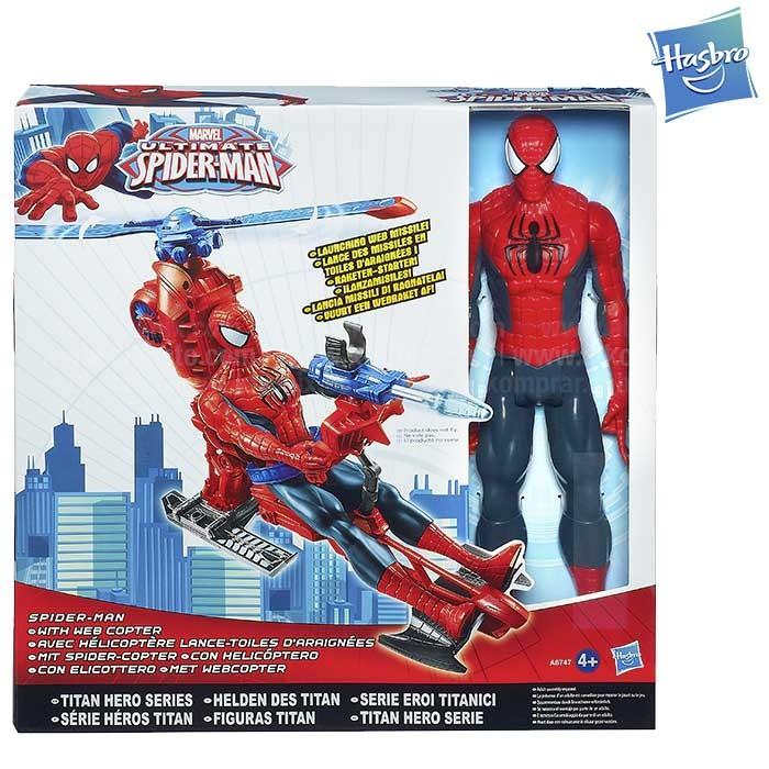 Spidermna Figura con Vehículo