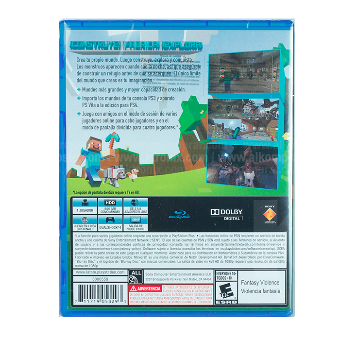 Videojuego PS4 Minecraft Alkosto Tienda Online