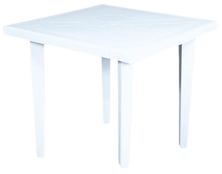 mesa cuadrada vanyplas 75x75 cms blanca alkosto tienda online