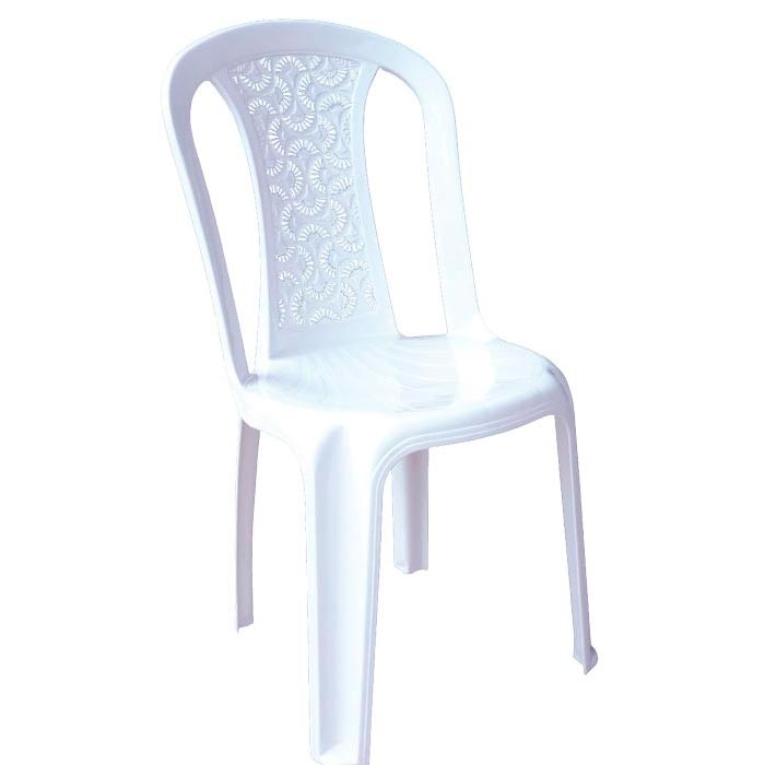 Silla floral vanyplas eco sin brazos blanca alkosto tienda for Sillas de diseno blancas