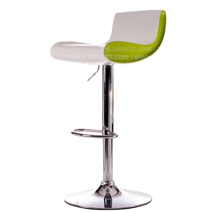 Silla de bar blanca verde wy 179 alkosto tienda online for Sillas cocina blancas