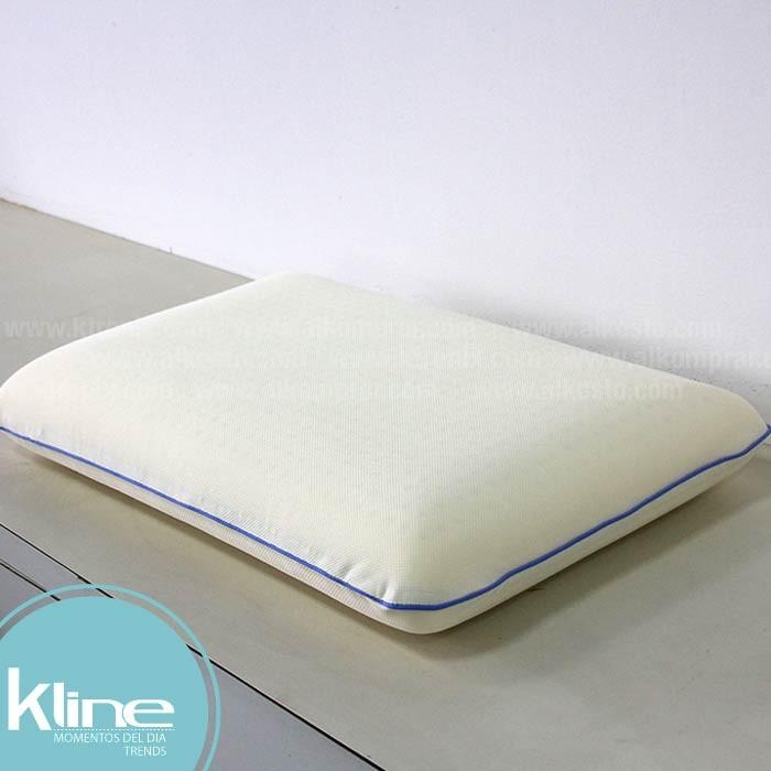 almohada k-line latex espuma viscoelástica 58x38x10 cm alkosto