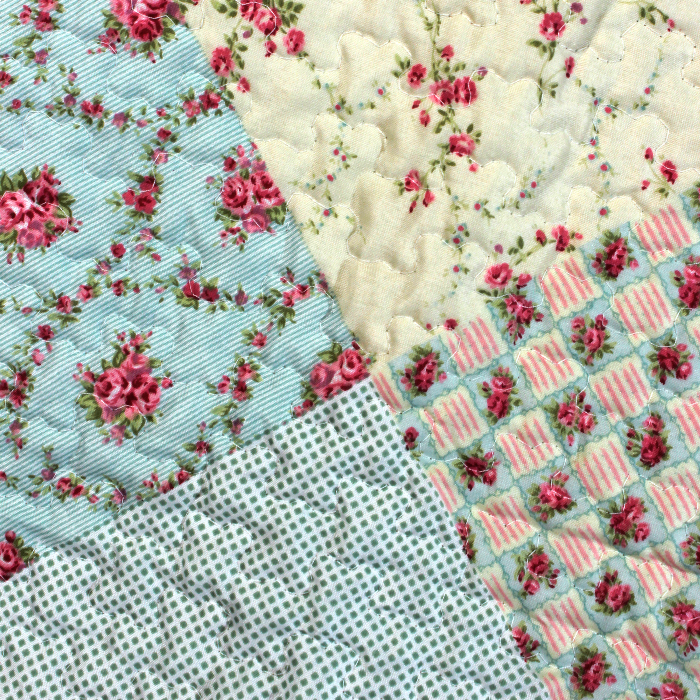 Cubrecama K-LINE Sencillo patchwork flores 12 Alkosto Tienda Online