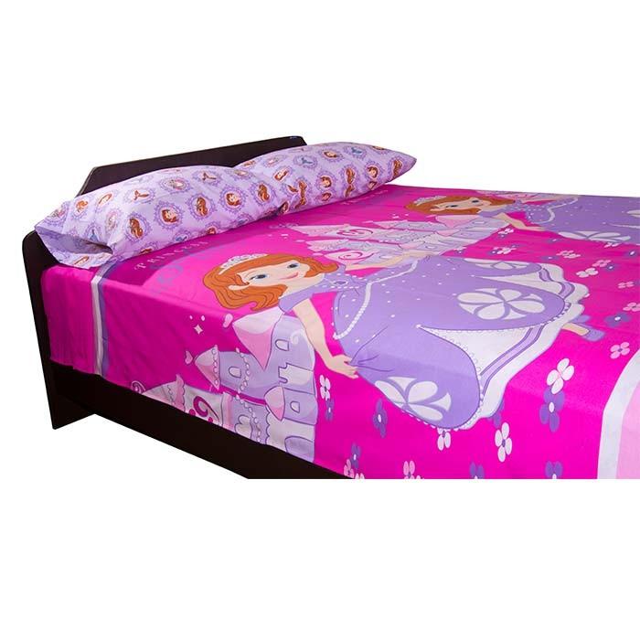 Juego de cama disney sofia sencillo princesa sofia alkosto - Camas infantiles de princesas ...