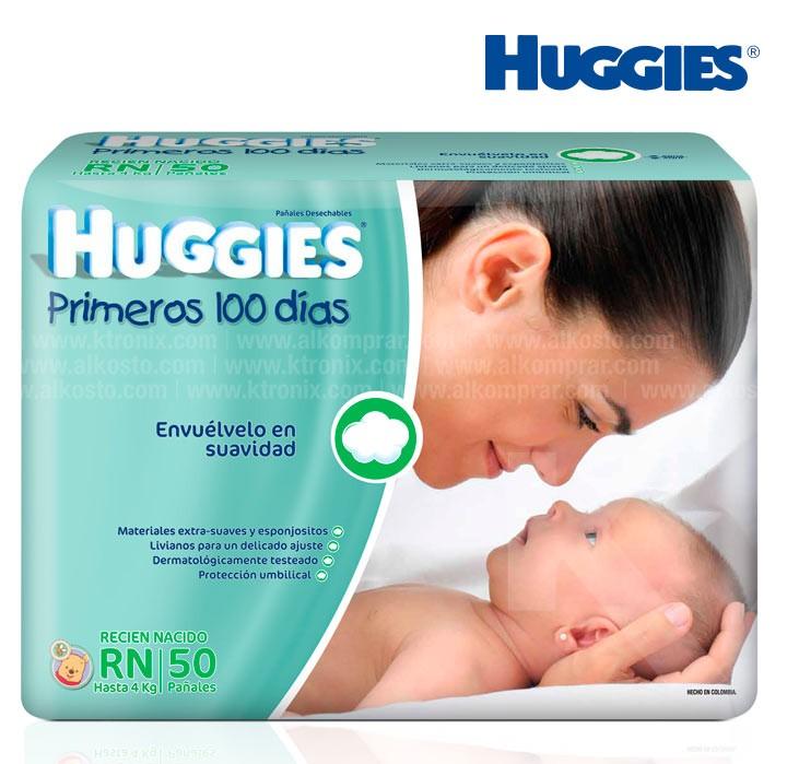 e07d1bc9 Pañal HUGGIES Recién Nacido Caja 50 Alkosto Tienda Online