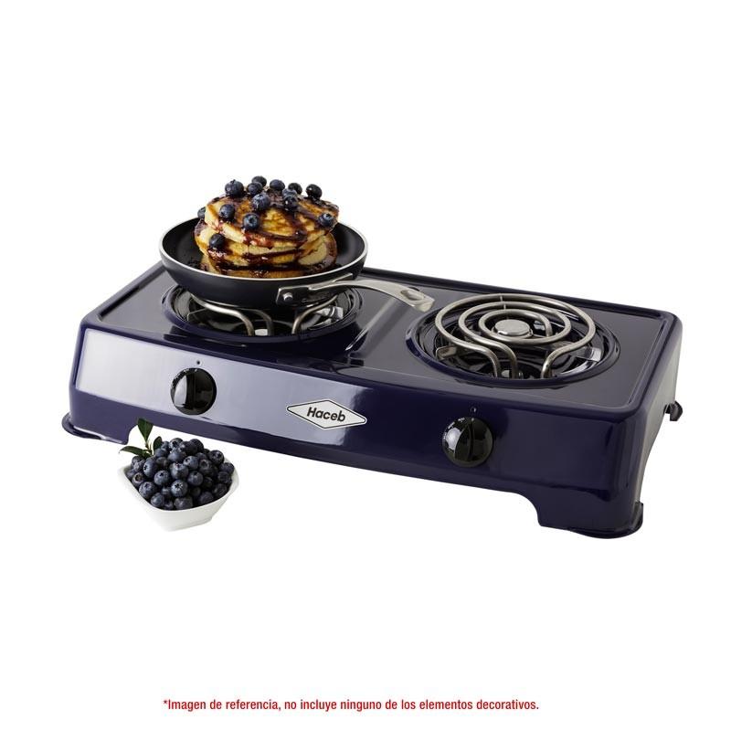 Cocineta Haceb 2 Puestos Electrica Arandano Azul Alkosto Tienda Online