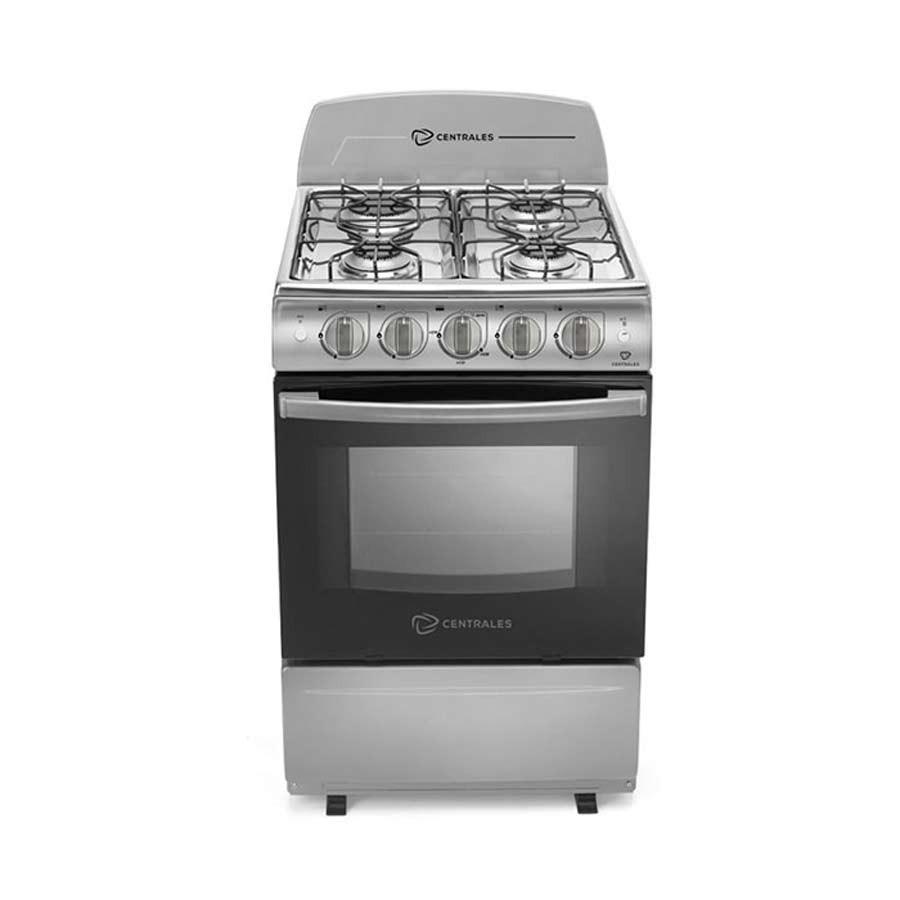Estufa centrales 20 horno grill ccc20aggxn 4 alkosto for Estufas de cocina de gas
