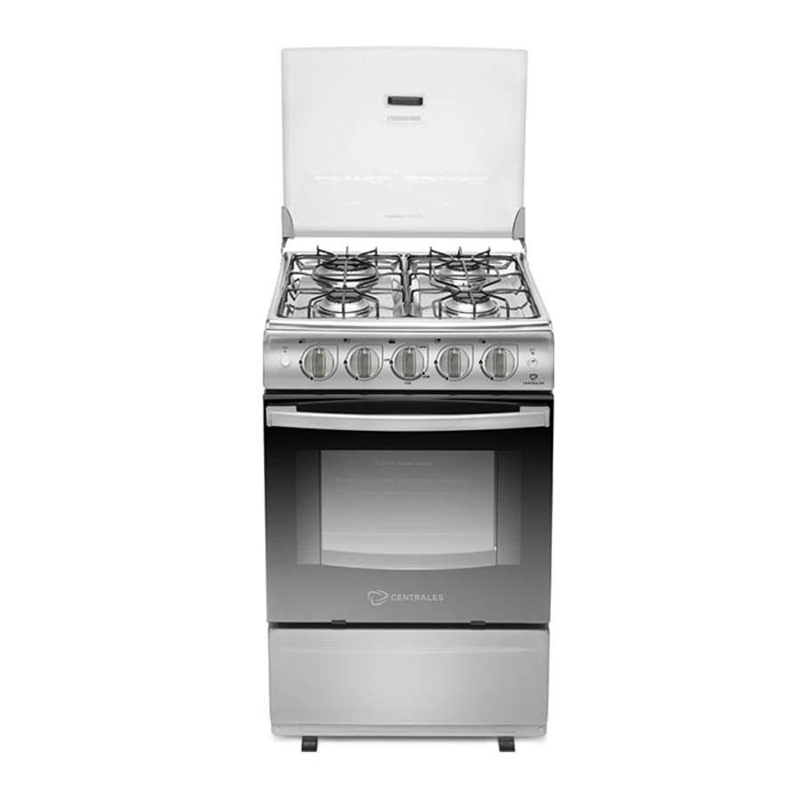 Estufa centrales 20 horno grill ccc20sggxn 4 alkosto for Estufa pellets con horno