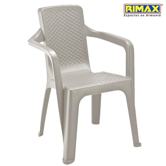 silla rimax eterna con brazos pardo alkosto tienda online