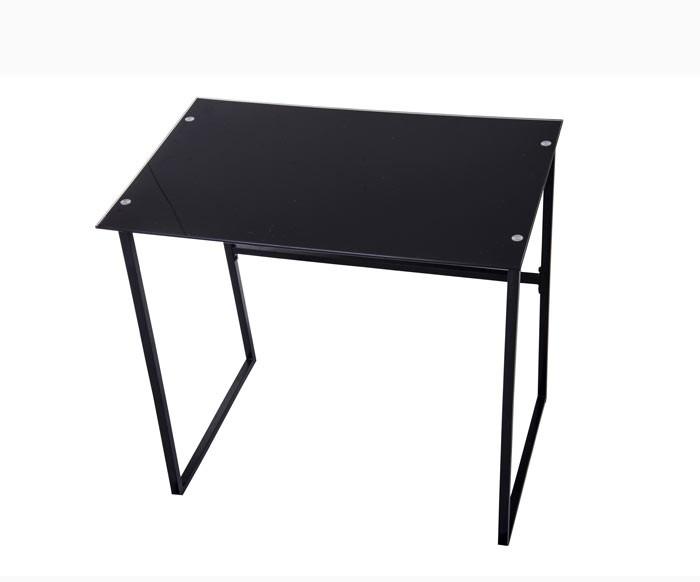 mesa escritorio vidrio negra alkosto tienda online