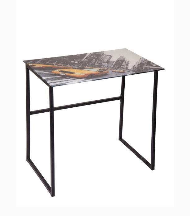 escritorio en vidrio new york alkosto tienda online