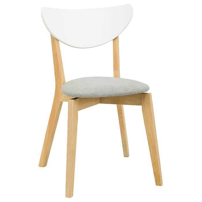 silla de comedor gris blanca alkosto tienda online