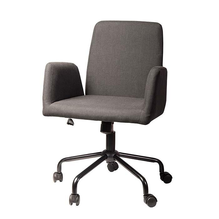 Silla de oficina tukasa 2 155 gris oscuro alkosto tienda for Sillas de diseno para oficina