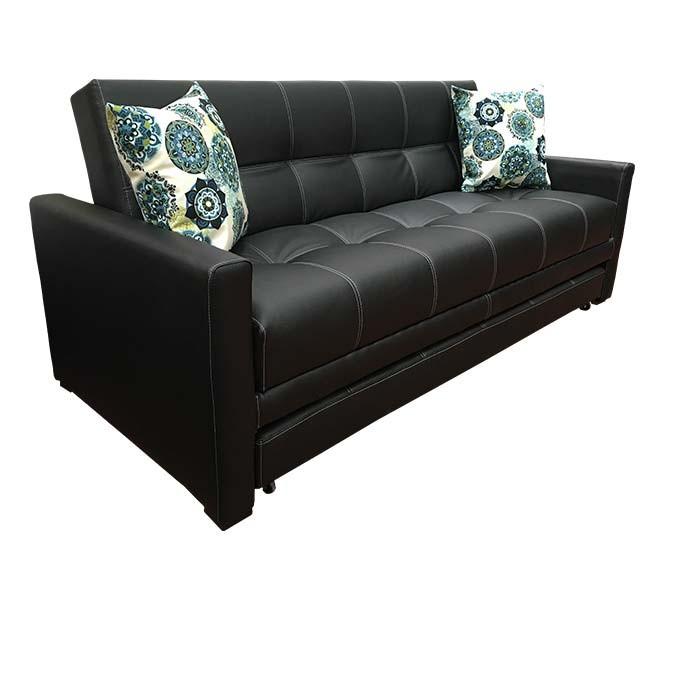 Sof cama tukasa veracruz ecocuero negro alkosto tienda online for Sofa cama 190 ancho