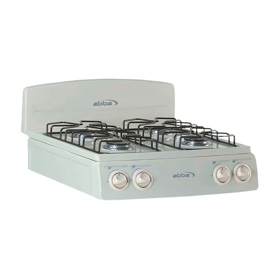 Estufa de mesa abba 4p sg4001 a gas propano color almendra for Estufas de cocina de gas
