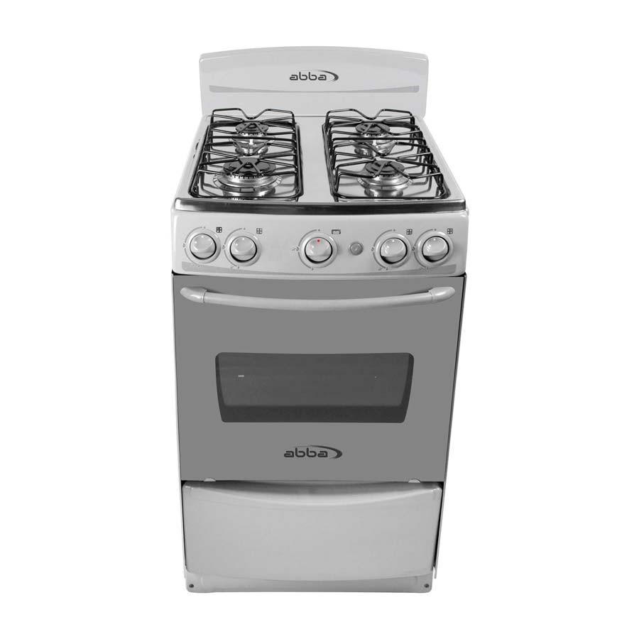 Estufa abba 20 ab1015n g gas natural color gris alkosto for Estufas de cocina de gas