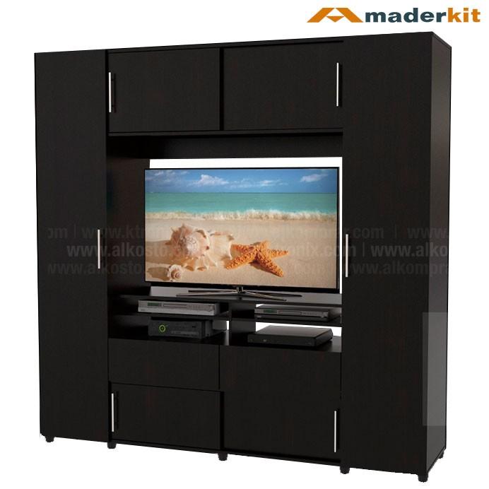 Armario tv maderkit dupla 6 puertas 00840 cl w r alkosto - Mi armario de la tele ...