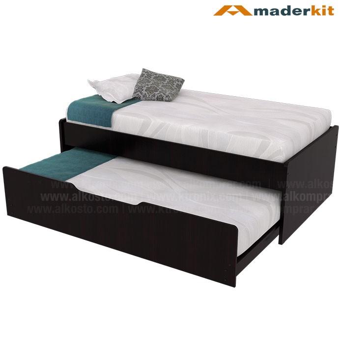 Cama maderkit nido dupla sencilla 00843 ca w r alkosto for Cama doble con cama auxiliar