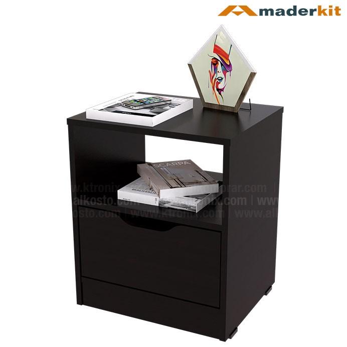 Mesa de noche maderkit line wengue 00848 mn w r alkosto for Ali muebles ferrol catalogo