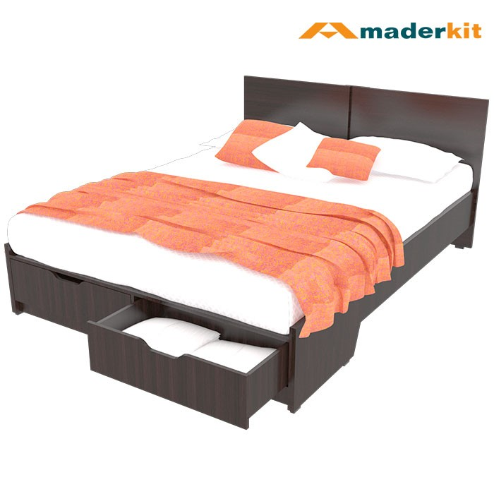 Cama doble maderkit wengue 1160 ca w r alkosto tienda online for Cama wengue