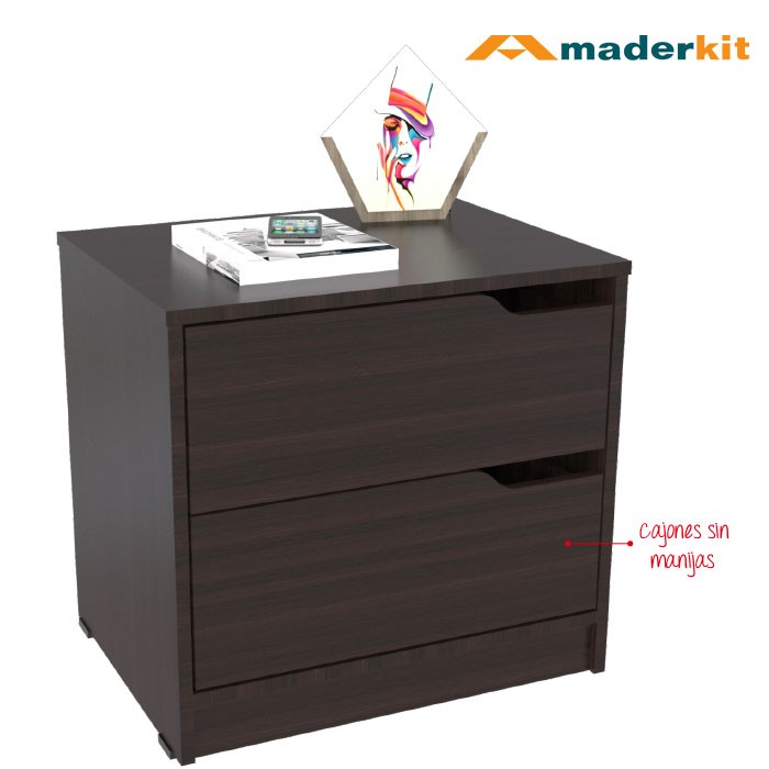 Mesa De Noche MADERKIT Wengue 01161-MN-W-R Alkosto Tienda Online