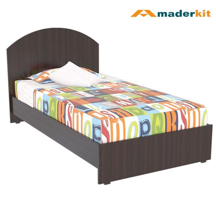 Cama sencilla maderkit wengue 01199 ca w r alkosto tienda for Colchon cama sencilla