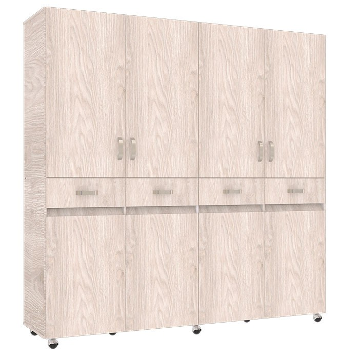 Armario 200 cm maderkit nova 200 ceniza alkosto tienda online - Armario 180 ancho ...