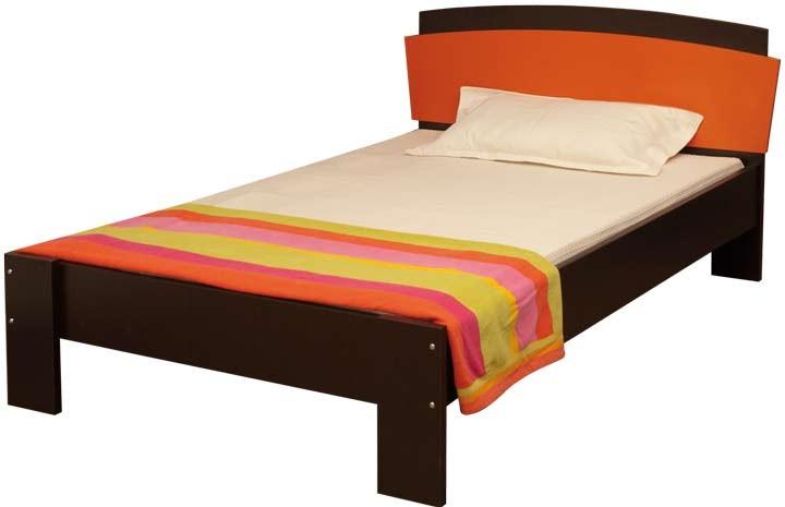 cama semidoble moduart l nea penta wengue naranja alkosto