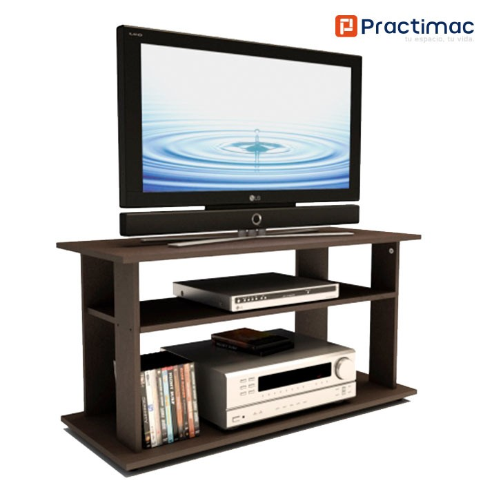 Mesa tv practimac wengue e1 pm3400353 alkosto tienda online for Muebles para tv modernos