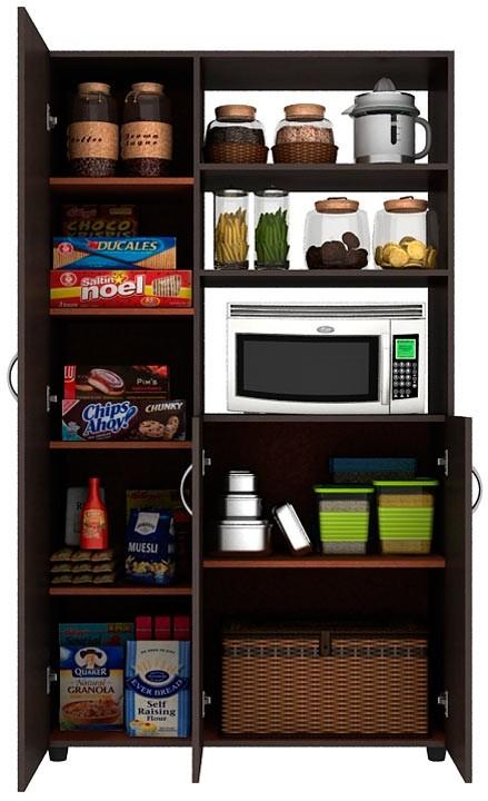 Mueble auxiliar cocina practimac wengue pm2400874 alkosto for Mueble auxiliar microondas